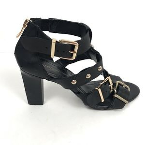 BCBGeneration Fizzy Leather Open Toe Sandals